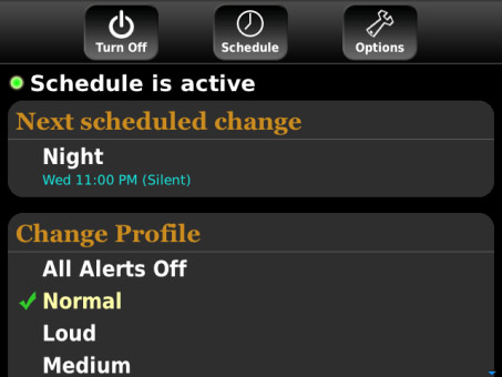 <b>Profile Scheduler v1.4 for blackberry os7.0+ apps</b>