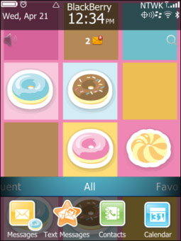 <b>Donut Theme for torch 9850, 9860 themes</b>