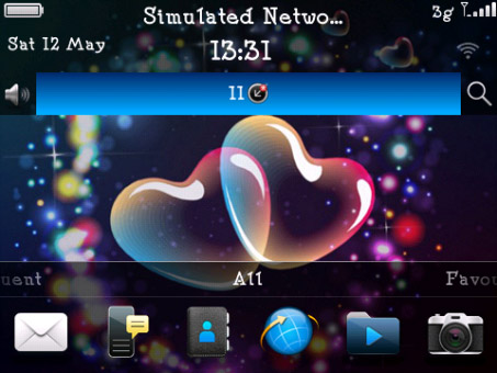 <b>3 D Hearts Theme for BB 9900,9930,9981 themes</b>