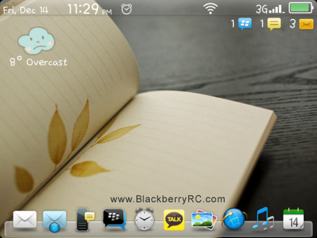 <b>Chic Dock for blackberry 9850,9860 themes</b>
