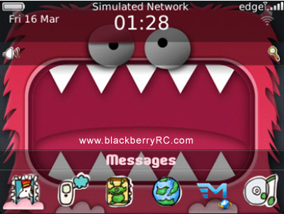 <b>Mouth Monster for blackberry 9900,9930,9981 theme</b>