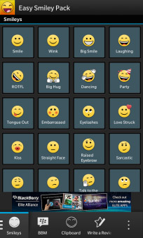 <b>Easy Smiley Pack 3.2.1.1 for bb10 and os5 to 7</b>