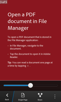 <b>Adobe Reader 10.1.0.4 for blackberry 10 apps</b>