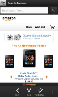 <b>Search for Amazon for BlackBerry 10 updated‏</b>