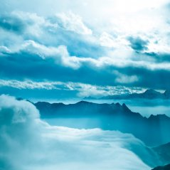 Cloudy Mountain Tablet wallpaper
