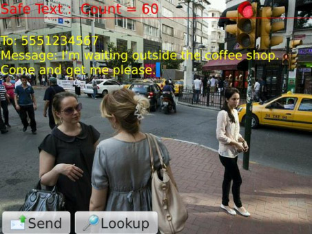 <b>Safe Text - If you must walk and text v1.0 (os7.0</b>