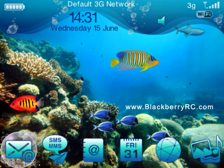blue coral reef for bb 9105 9100 themes free download free