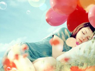 <b>Balloons and girls wallpaper</b>