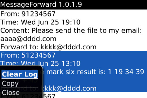 <b>MessageForward 1.5.1</b>