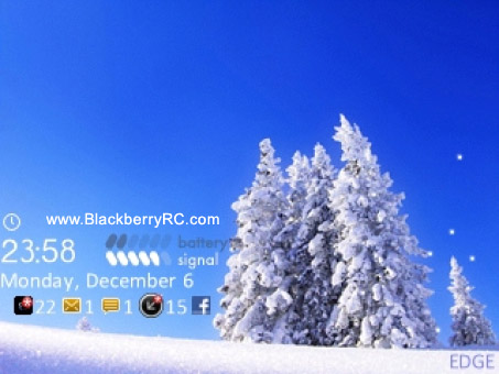 <b>SnowFlake for blackberry 85xx, 93xx os5 themes</b>