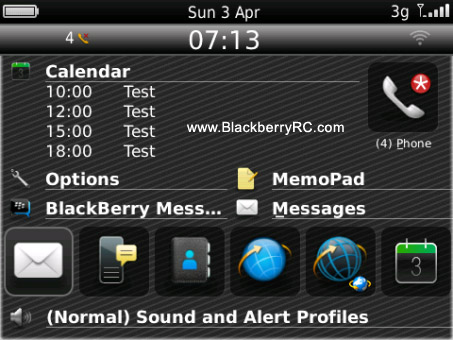 <b>Gramity theme for blackberry 85xx, 93xx os5</b>