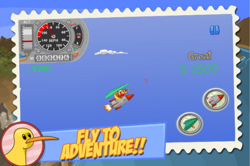 <b>Fly Kiwi Fly! - Classic blackberry 10 games</b>