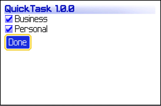 <b>QuickTask 1.0.1 for blackberry os 6 & 7 apps</b>