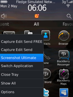 <b>Screenshot Ultimate 2.1 for blackberry os 6 & 7 a</b>