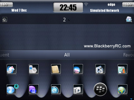 <b>Blue Carbon 9850,9860 theme for OS7 Devices</b>