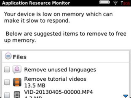 <b>BlackBerry Application Resource Monitor 3.0.0.23</b>