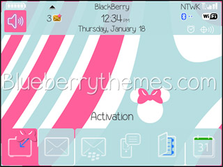 <b>Minnie Pink theme for BB 85xx,93xx os5.0/4.6</b>