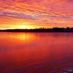 <b>Lakeside Sunset for Q5 Background wallpaper</b>