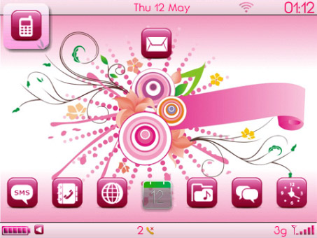 <b>free Cyllo Pink theme for curve 9300,9330 os6</b>