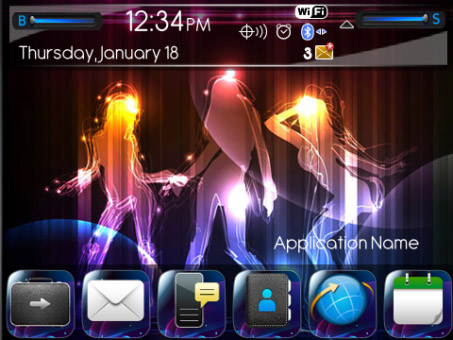 <b>Neon Girls for 9350/9360/9370 OS7 themes</b>