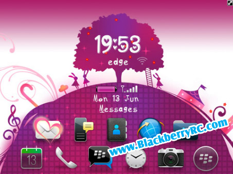 <b>Lovely Purple World theme ( 85xx,93xx OS 5 )</b>