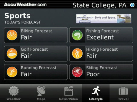 <b>AccuWeather 1.4.15 for BlackBerry apps</b>