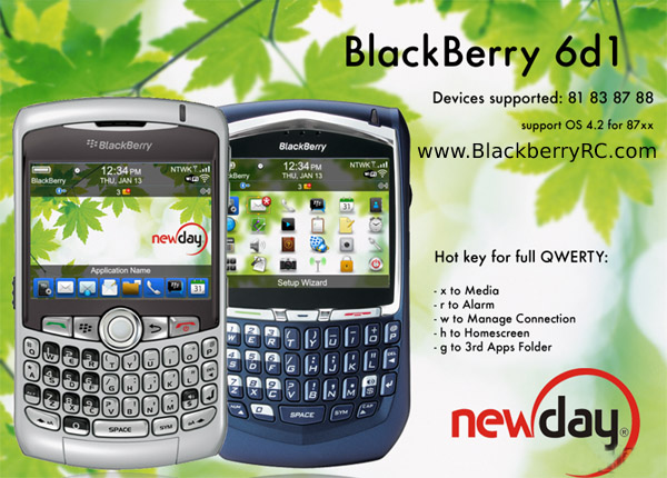 <b>BlackBerry 6d1 theme for 81,83,87,88 models</b>