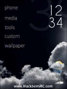 <b>Black Echo Theme for bb torch 9800 os6</b>