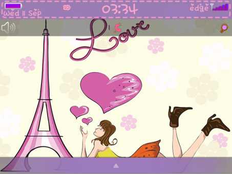 <b>Love in Paris Theme with Purple color</b>