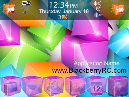 <b>A1 Colorful Cubes Theme (9800 OS6)</b>