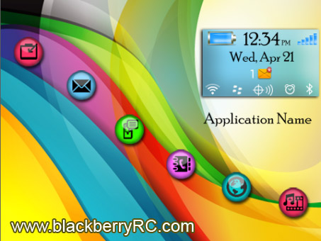 <b>Color Waves blackberry theme(97xx,9800)</b>
