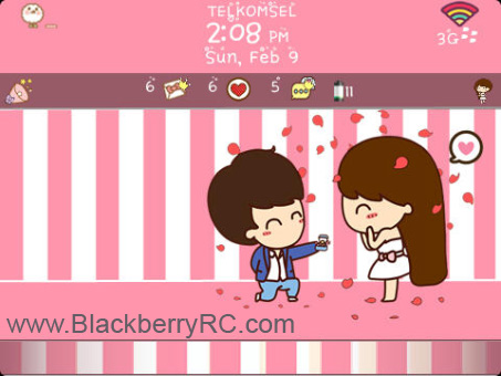 <b>Marry Me for BlackBerry 97xx,9800 os6 theme</b>