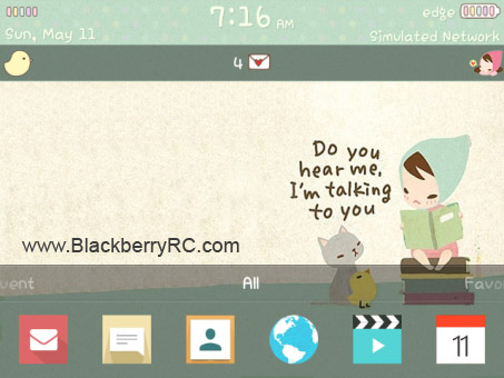 <b>Flat Design for blackberry 9800,97xx os6 themes</b>