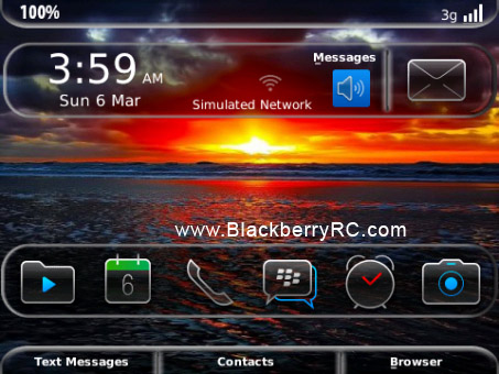 <b>New Glass for OS 6.0 9700, 9650, 9780 theme</b>