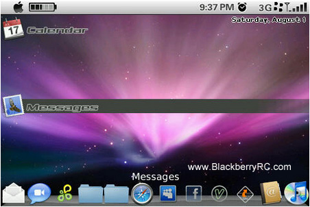 <b>Mac OS X Leopard Theme for BlackBerry 95xx Downlo</b>