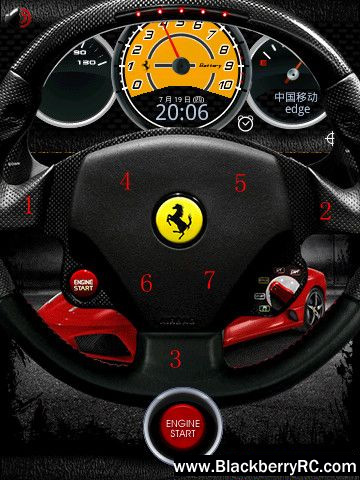 <b>Speed Ferrari for bb 95xx storm themes</b>