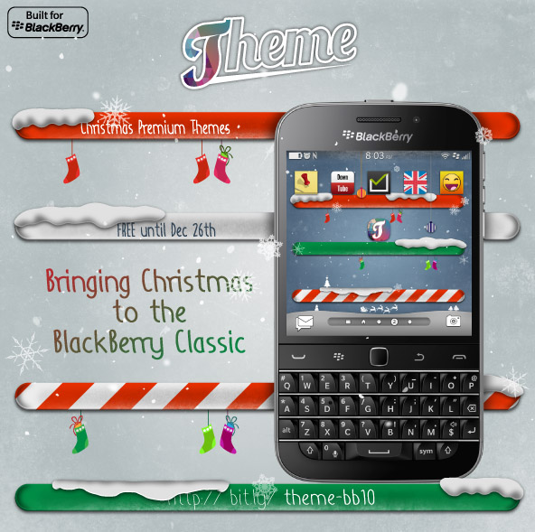 <b>Theme with BlackBerry Classic Support and 2 Free </b>
