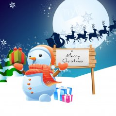 Snowman Merry Christmas passport wallpaper