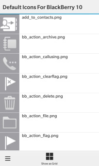 <b>Default Icons For BlackBerry 10 Apps</b>
