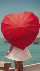 <b>Heart shaped umbrella 1440x2560 wallpaper</b>