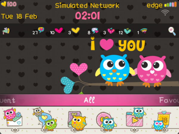 <b>Cutie Owl blackberry theme(99xx os7)</b>