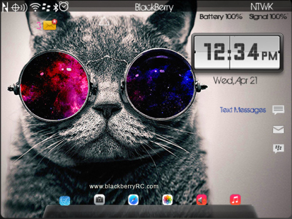 <b>Hello Mr.CAT blackberry theme(os7 99xx)</b>
