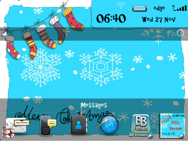 <b>Merry Xmas FREE Version Theme</b>