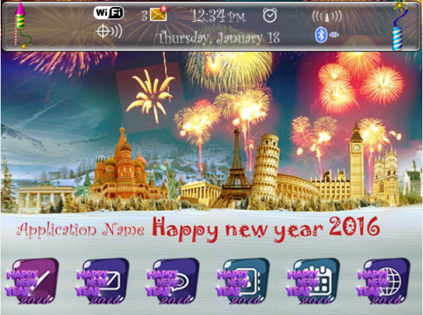 <b>2016 New Year theme for 99xx model</b>
