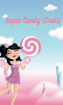 <b>Super Candy World 1.0.1 for Blackberry world game</b>