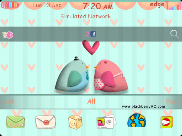 <b>free Winsome Birds 99xx blackberry models theme</b>