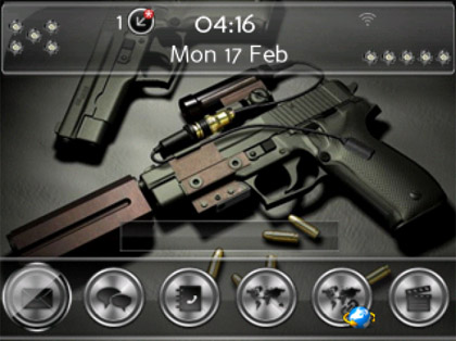 <b>Stray bullets theme for bb bold 99xx model</b>