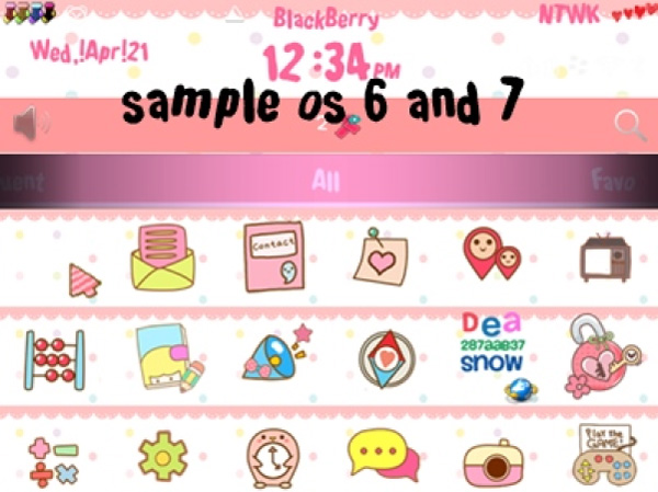 <b>Pink Summer Day for blackberry theme</b>