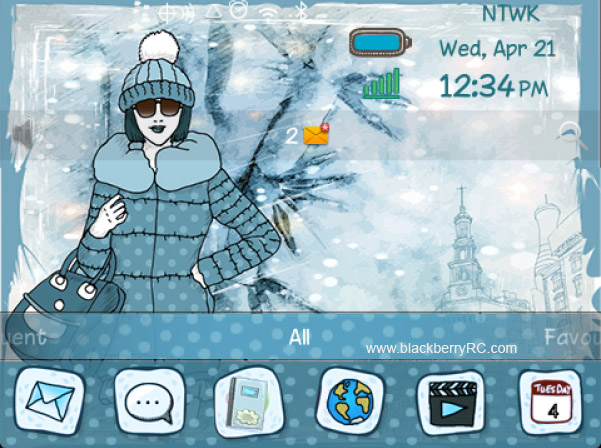 <b>Winter Fashion Girl 99xx bold themes</b>