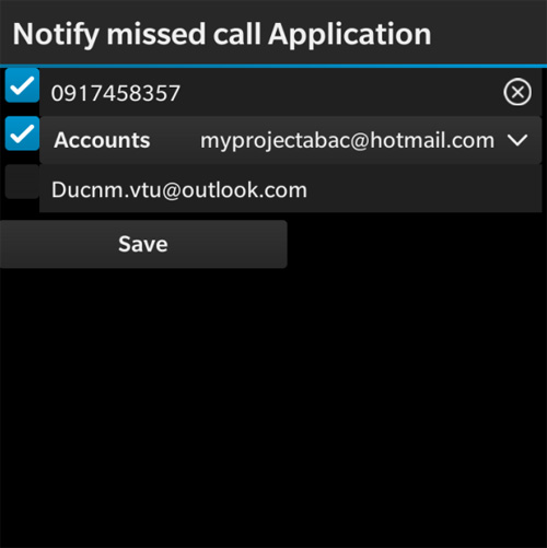 Notify Missed Call Application v 1.0.1.1